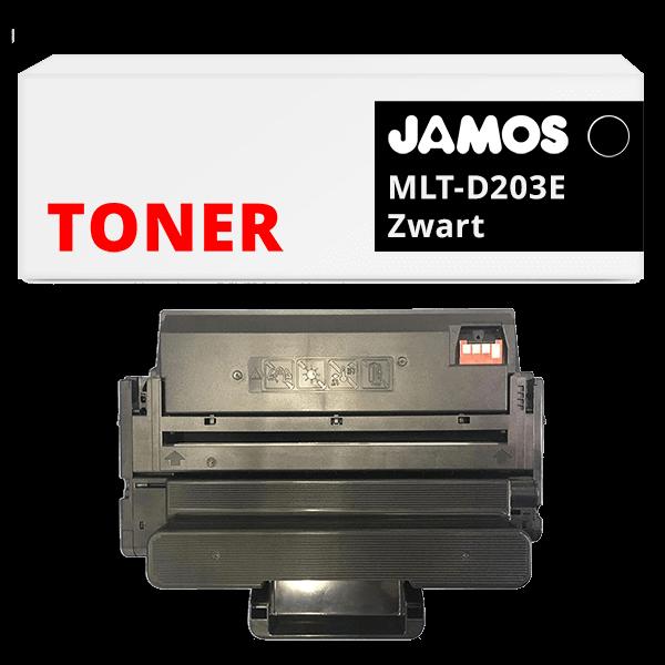 JAMOS Tonercartridge Alternatief voor de Samsung MLT-D203E Zwart