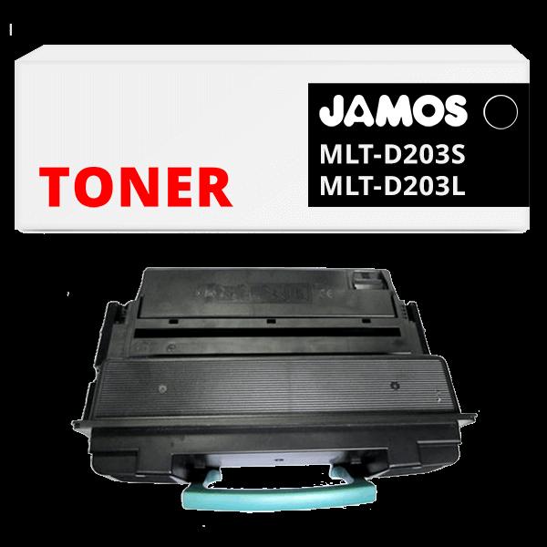 JAMOS Tonercartridge Alternatief voor de Samsung MLT-D203S MLT-D203L Zwart
