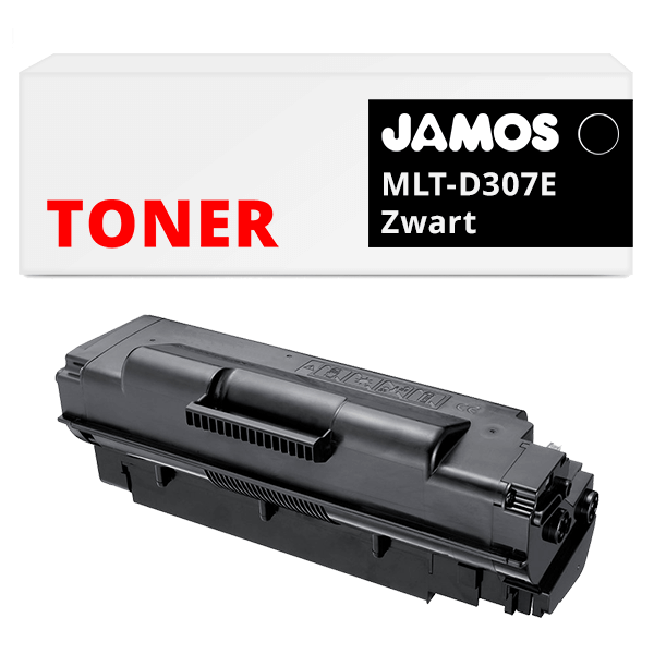 JAMOS Tonercartridge Alternatief voor de Samsung MLT-D307E Zwart
