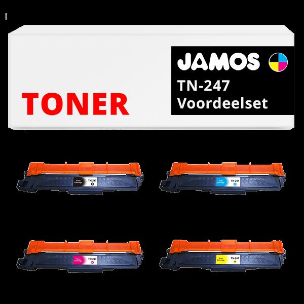 JAMOS Tonercartridge Alternatief voor de Brother TN-247 Voordeelset