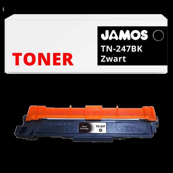 JAMOS Tonercartridge Alternatief voor de Brother TN-247BK Zwart