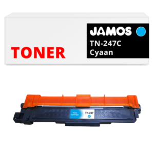 JAMOS Tonercartridge Alternatief voor de Brother TN-247C Cyaan