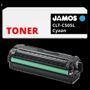 JAMOS Tonercartridge Alternatief voor de Samsung CLT-C505L Cyaan