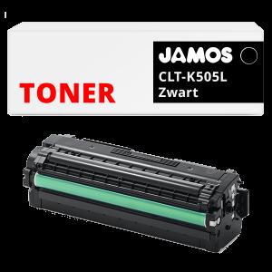 JAMOS Tonercartridge Alternatief voor de Samsung CLT-K505L Zwart