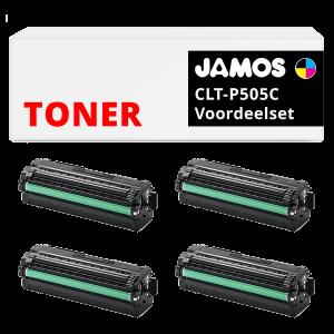 JAMOS Tonercartridge Alternatief voor de Samsung CLT-P505C Voordeelset