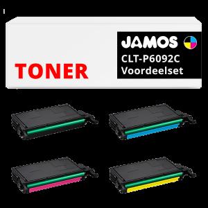 JAMOS Tonercartridges Alternatief voor de Samsung CLT-P6092C Voordeelset