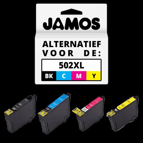 JAMOS Inktcartridge Alternatief voor de Epson 502XL Voordeelset