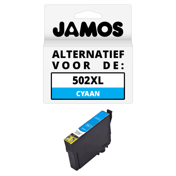 JAMOS Inktcartridge Alternatief voor de Epson 502XL Cyaan