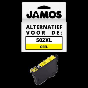 JAMOS Inktcartridge Alternatief voor de Epson 502XL Geel