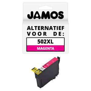 JAMOS Inktcartridge Alternatief voor de Epson 502XL Magenta