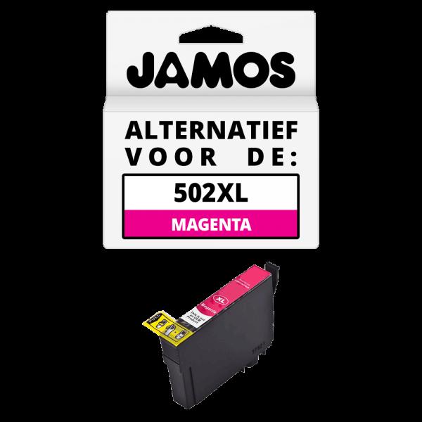 JAMOS Inktcartridge Alternatief voor de Epson 502XL Magenta
