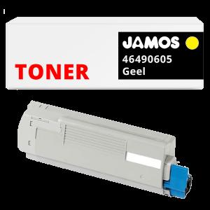 JAMOS Tonercartridge Alternatief voor de OKI 46490605 Geel