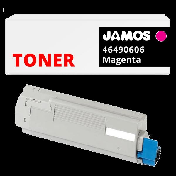 JAMOS Tonercartridge Alternatief voor de OKI 46490606 Magenta