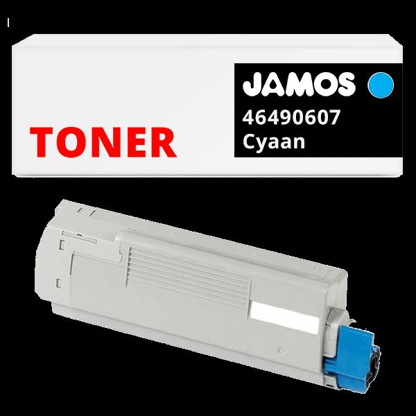 JAMOS Tonercartridge Alternatief voor de OKI 46490607 Cyaan