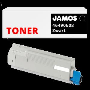 JAMOS Tonercartridge Alternatief voor de OKI 46490608 Zwart