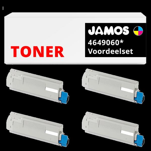 JAMOS Tonercartridges Alternatief voor de OKI 4649060 Voordeelset
