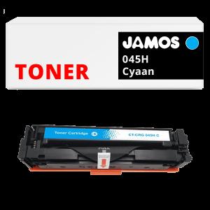 JAMOS Tonercartridge Alternatief voor de Canon 045H Cyaan