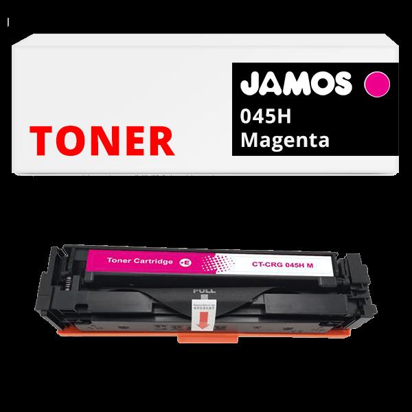 JAMOS Tonercartridge Alternatief voor de Canon 045H Magenta