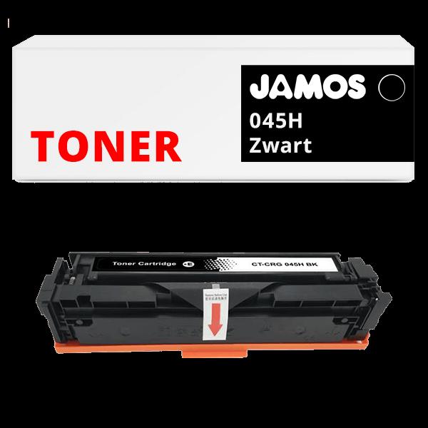 JAMOS Tonercartridge Alternatief voor de Canon 045H Zwart