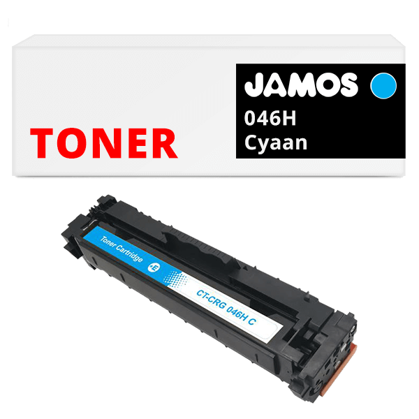 JAMOS Tonercartridge Alternatief voor de Canon 046H Cyaan