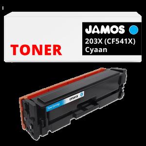 JAMOS Tonercartridge Alternatief voor de HP 203X Cyaan CF541X