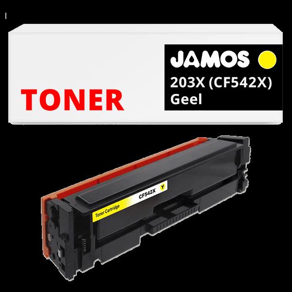 JAMOS Tonercartridge Alternatief voor de HP 203X Geel CF542X