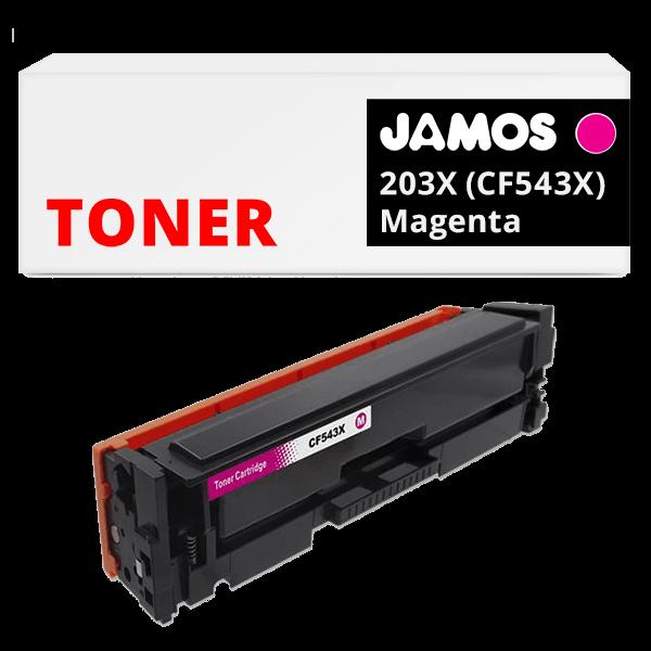 JAMOS Tonercartridge Alternatief voor de HP 203X Magenta CF543X