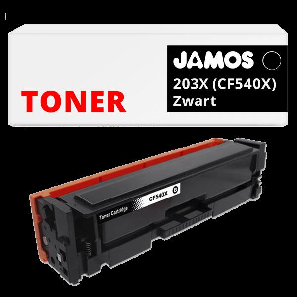 JAMOS Tonercartridge Alternatief voor de HP 203X Zwart CF540X