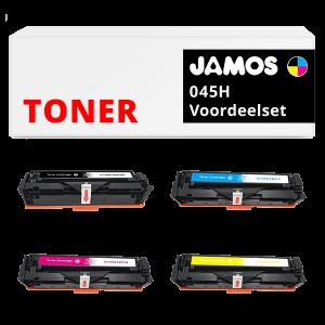 JAMOS Tonercartridge Alternatief voor de Canon 045H Voordeelset