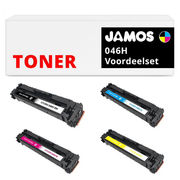 JAMOS Tonercartridge Alternatief voor de Canon 046H Voordeelset