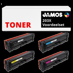 JAMOS Tonercartridges Alternatief voor de HP 203X Voordeelset