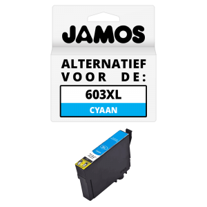 JAMOS Inktcartridge Alternatief voor de Epson 603XL Cyaan