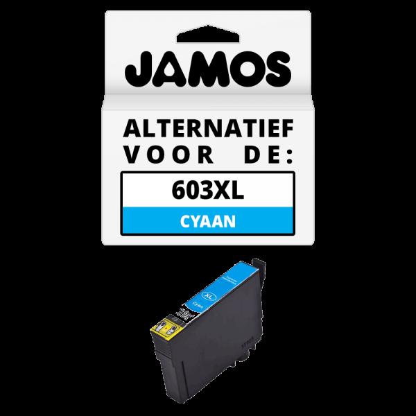 JAMOS Inktcartridge Alternatief voor de Epson 603XL Cyaan
