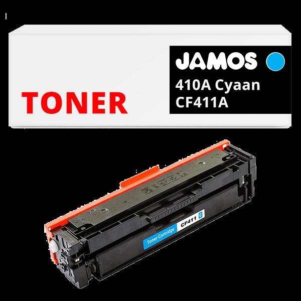 JAMOS Tonercartridge Alternatief voor de HP 410A Cyaan CF411A