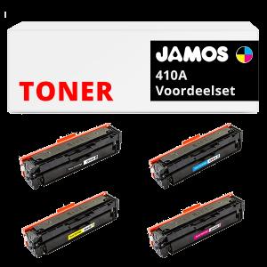 JAMOS Tonercartridge Alternatief voor de HP 410A Voordeelset